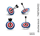 bulls eye icon vector  arrow... | Shutterstock .eps vector #748769452