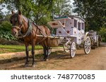 The Old Style Horse Cart At...
