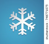 snowflake vector in paper art... | Shutterstock .eps vector #748771075