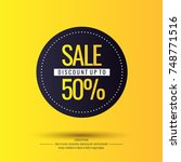 original sale poster for...   Shutterstock .eps vector #748771516