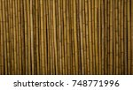 bamboo fence or wall texture... | Shutterstock . vector #748771996