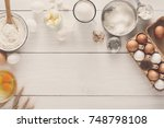 baking background. cooking... | Shutterstock . vector #748798108