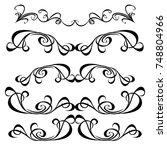 vector vintage style elements | Shutterstock .eps vector #748804966