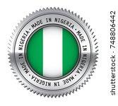 made in nigeria metal silver... | Shutterstock .eps vector #748806442
