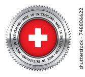 made in switzerland metal... | Shutterstock .eps vector #748806622