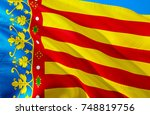 valencia flag. republic of... | Shutterstock . vector #748819756