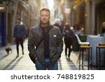 handsome middle aged man... | Shutterstock . vector #748819825