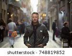 handsome middle aged man... | Shutterstock . vector #748819852
