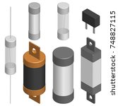 set of fuses of different... | Shutterstock .eps vector #748827115