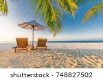 vacation and holiday concept in ... | Shutterstock . vector #748827502