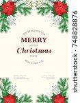 floral vintage invitation card... | Shutterstock .eps vector #748828876