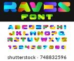 creative design vector font of... | Shutterstock .eps vector #748832596