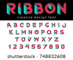 creative design vector font of... | Shutterstock .eps vector #748832608