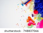 birthday party things | Shutterstock . vector #748837066