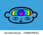 a head icon representing a... | Shutterstock .eps vector #748839832