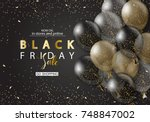 black friday sale background... | Shutterstock .eps vector #748847002