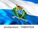 San Marino. San Marino Flag....