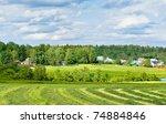 haymaking against memorial... | Shutterstock . vector #74884846