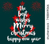 the best wishes for merry... | Shutterstock .eps vector #748849066