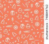 vector illustration new year... | Shutterstock .eps vector #748849762