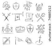medieval sketch set | Shutterstock .eps vector #74885212
