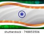 vector illustration of india... | Shutterstock .eps vector #748853506