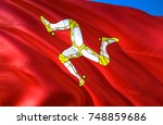 isle of man flag. flag of isle... | Shutterstock . vector #748859686