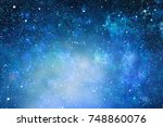 magic space sky background | Shutterstock . vector #748860076