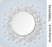 vector illustration abstract... | Shutterstock .eps vector #748865446