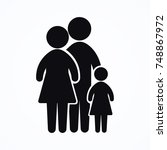 family together icon | Shutterstock .eps vector #748867972