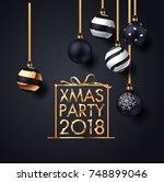 premium luxury christmas... | Shutterstock .eps vector #748899046