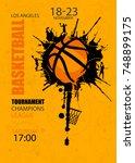 design for basketball. poster...   Shutterstock .eps vector #748899175