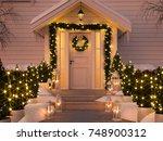 3d rendering. christmas... | Shutterstock . vector #748900312