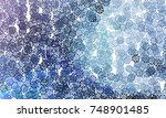 abstract winter background with ... | Shutterstock .eps vector #748901485