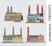 industry factory icon. vector... | Shutterstock .eps vector #748903372