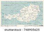 austria map   vintage detailed... | Shutterstock .eps vector #748905625