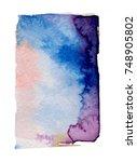 watercolor blotch | Shutterstock . vector #748905802