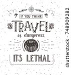 travel. vector hand drawn...   Shutterstock .eps vector #748909282