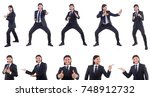 young businessman isolated on...   Shutterstock . vector #748912732