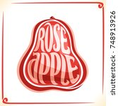 vector logo for rose apple ... | Shutterstock .eps vector #748913926