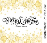 merry christmas and happy new... | Shutterstock .eps vector #748915252