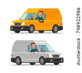delivery  transportation ... | Shutterstock .eps vector #748922986