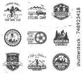 set of mountain bikings clubs.... | Shutterstock .eps vector #748923418