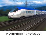 modern high speed train with