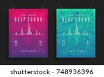 set of modern party posters.... | Shutterstock .eps vector #748936396