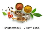 various spices isolated on... | Shutterstock . vector #748941556