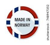 made in norway label... | Shutterstock .eps vector #748947352