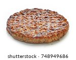 grilled burger meat isolated on ...   Shutterstock . vector #748949686