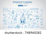 venture capital funding concept ... | Shutterstock .eps vector #748960282