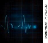 heart pulse graphic. vector... | Shutterstock .eps vector #748961032